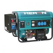 Heron benzinmotoros áramfejlesztő + HAV1 indító automatika, max 5500 VA, egyfázisú, elektromos önindítóval (EGM-55 AVR-1E) 8896115-AU1