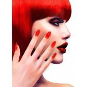 Neppe rode nagels voor volwassenen - Schmink