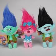3pcs/set 23cm Movie Trolls Poppy Branch Plush Toy Poppy Branch Dream Works Soft Stuffed Toys Doll The Good Luck Trolls