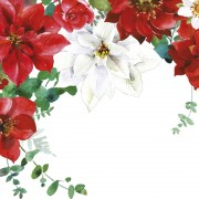 Lunchservet 33x33 pakje 20 st,Christmas Bouquet