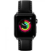 Apple LAUT Oxford Apple Watch 44MM / 42MM Bandje Echt Nappa Leer Noir